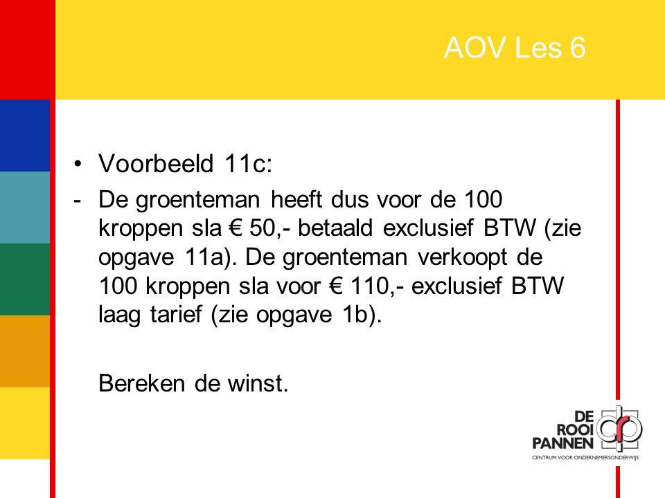 AOV Les 6 Voorbeeld 11c: