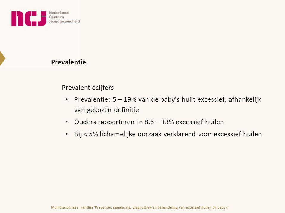 Ouders rapporteren in 8.6 – 13% excessief huilen