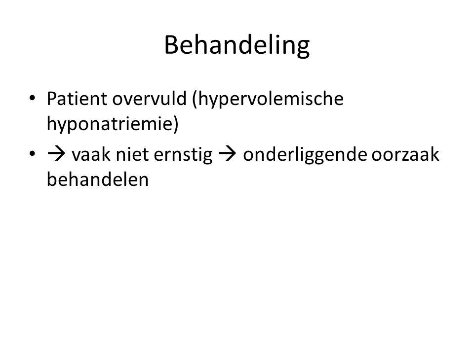Behandeling Patient overvuld (hypervolemische hyponatriemie)