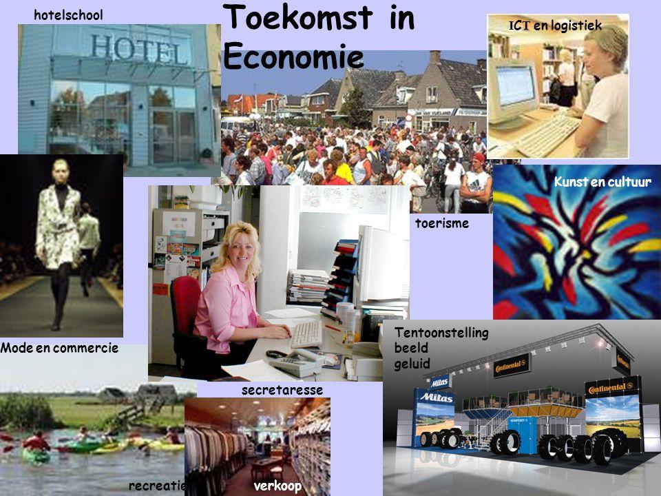 Toekomst in Economie hotelschool ICT en logistiek Kunst en cultuur