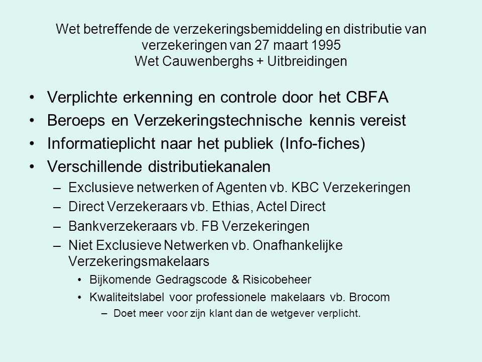 Verplichte erkenning en controle door het CBFA