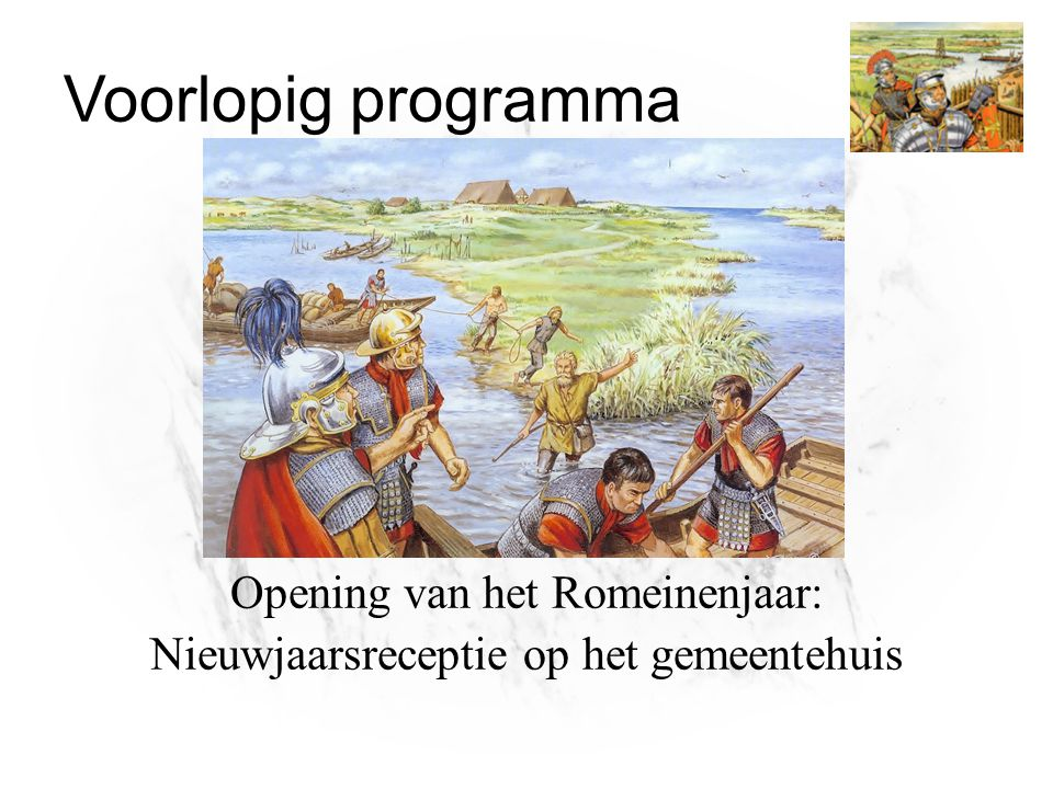 Opening van het Romeinenjaar: Nieuwjaarsreceptie op het gemeentehuis