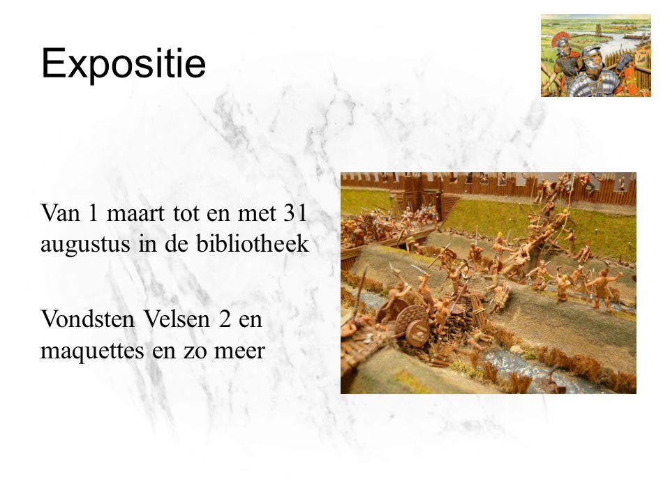 Expositie Van 1 maart tot en met 31 augustus in de bibliotheek Vondsten Velsen 2 en maquettes en zo meer