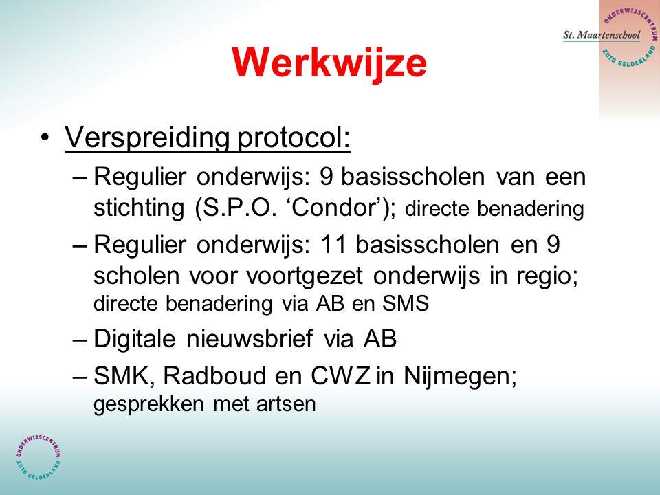 Werkwijze Verspreiding protocol: