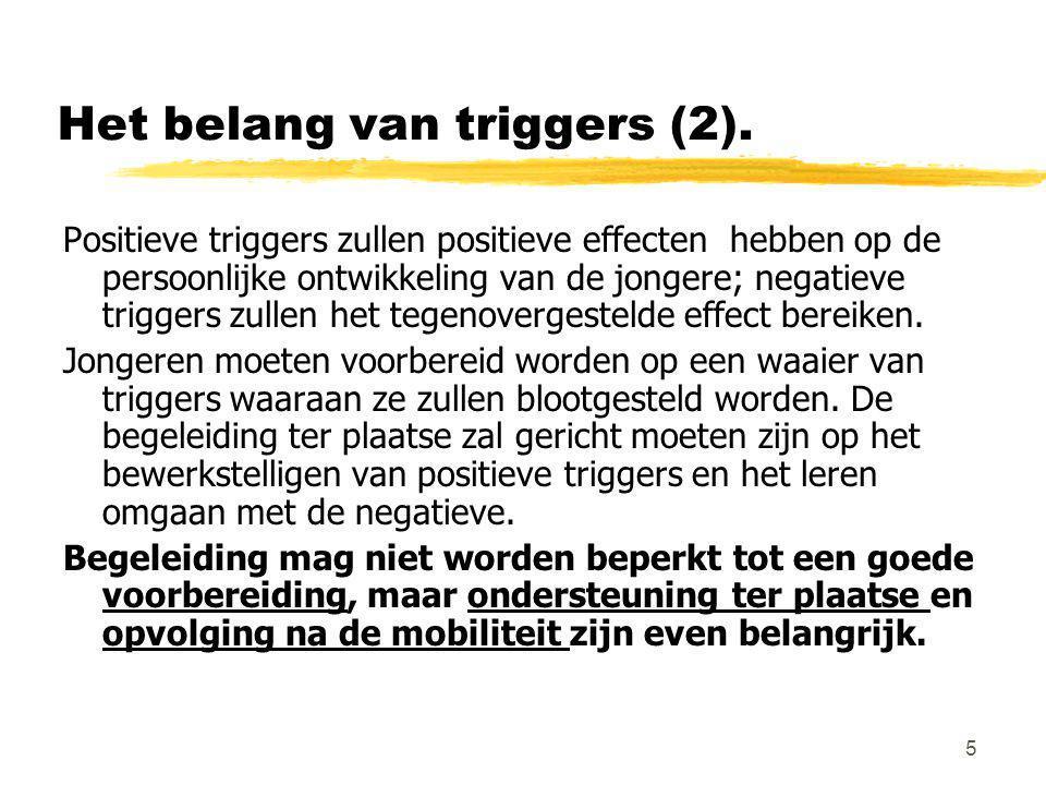 Het belang van triggers (2).