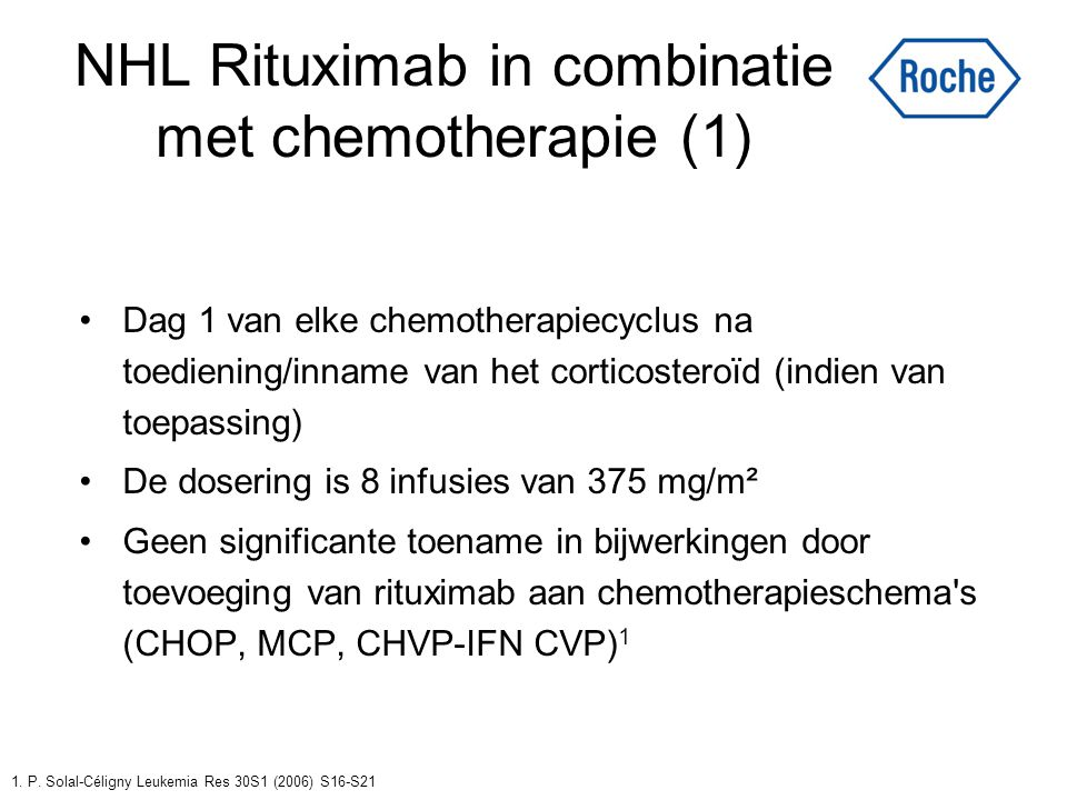 NHL Rituximab in combinatie met chemotherapie (1)