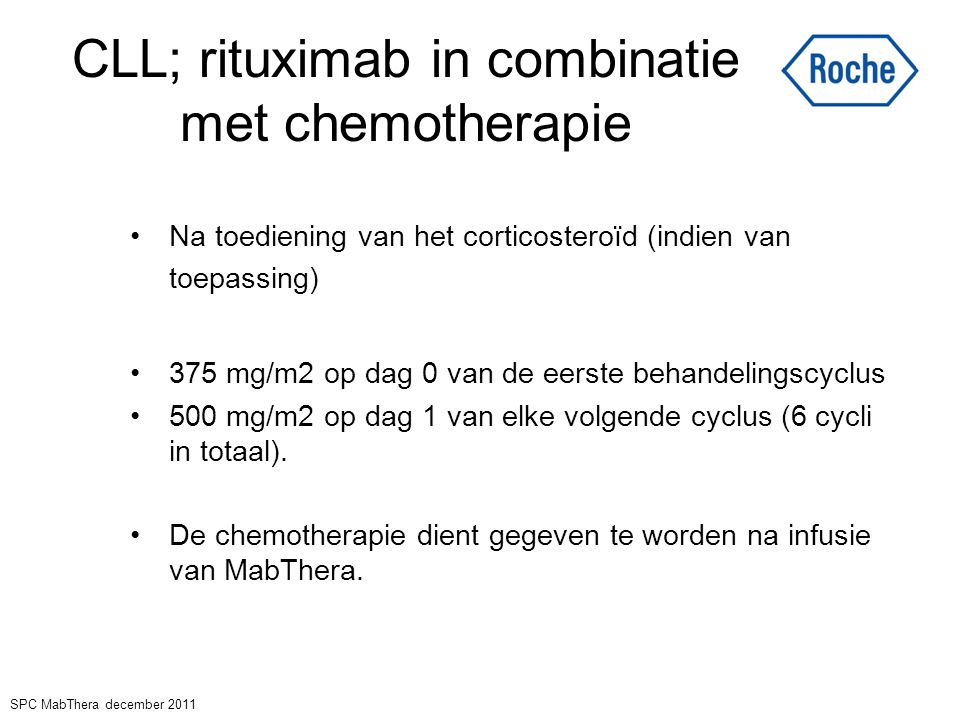 CLL; rituximab in combinatie met chemotherapie