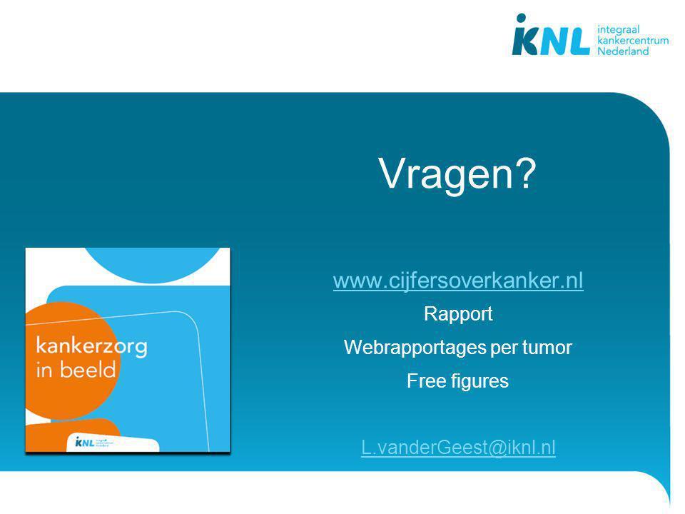 Webrapportages per tumor