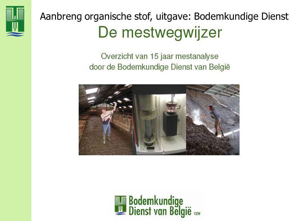 Aanbreng organische stof, uitgave: Bodemkundige Dienst