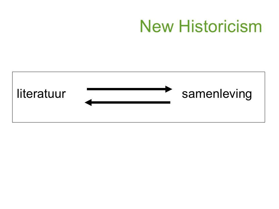New Historicism literatuur samenleving