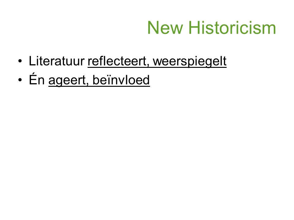 New Historicism Literatuur reflecteert, weerspiegelt