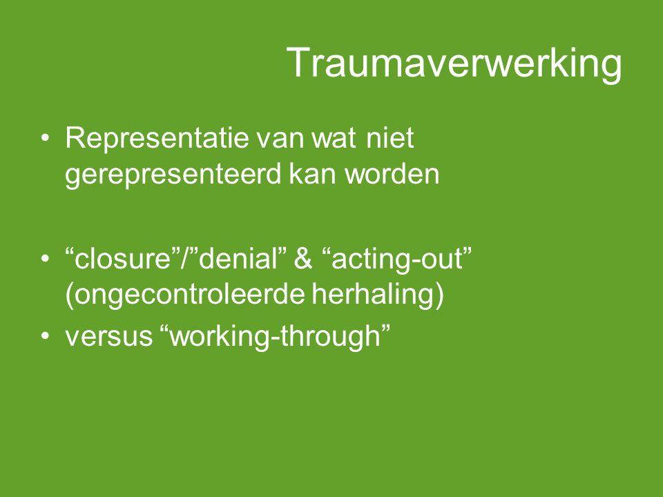 Traumaverwerking Representatie van wat niet gerepresenteerd kan worden