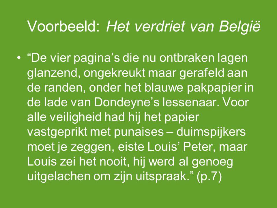 Voorbeeld: Het verdriet van België