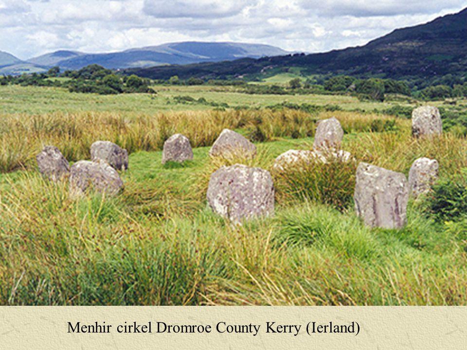 Menhir cirkel Dromroe County Kerry (Ierland)