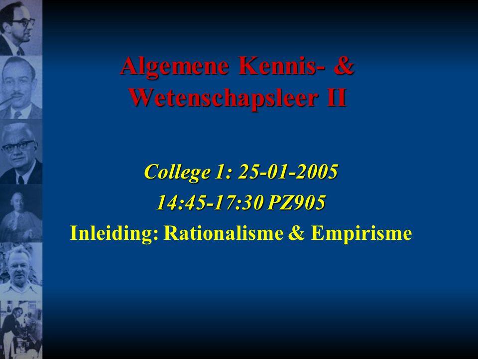 Algemene Kennis- & Wetenschapsleer II