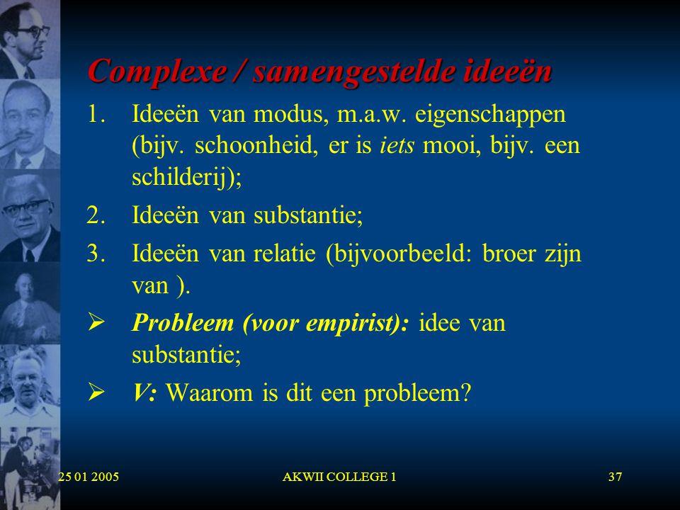 Complexe / samengestelde ideeën