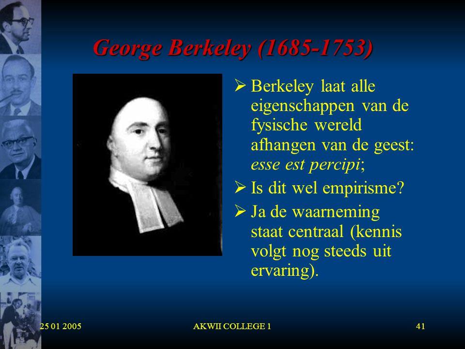 George Berkeley (1685-1753) Berkeley laat alle eigenschappen van de fysische wereld afhangen van de geest: esse est percipi;