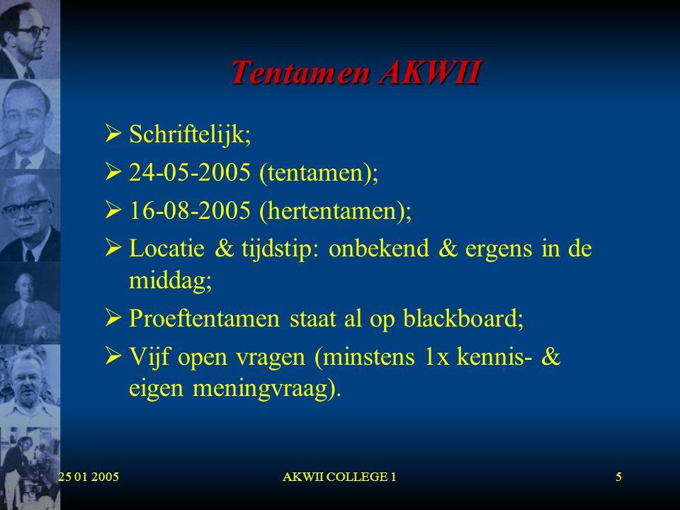 Tentamen AKWII Schriftelijk; 24-05-2005 (tentamen);