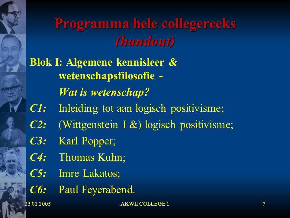 Programma hele collegereeks (handout)