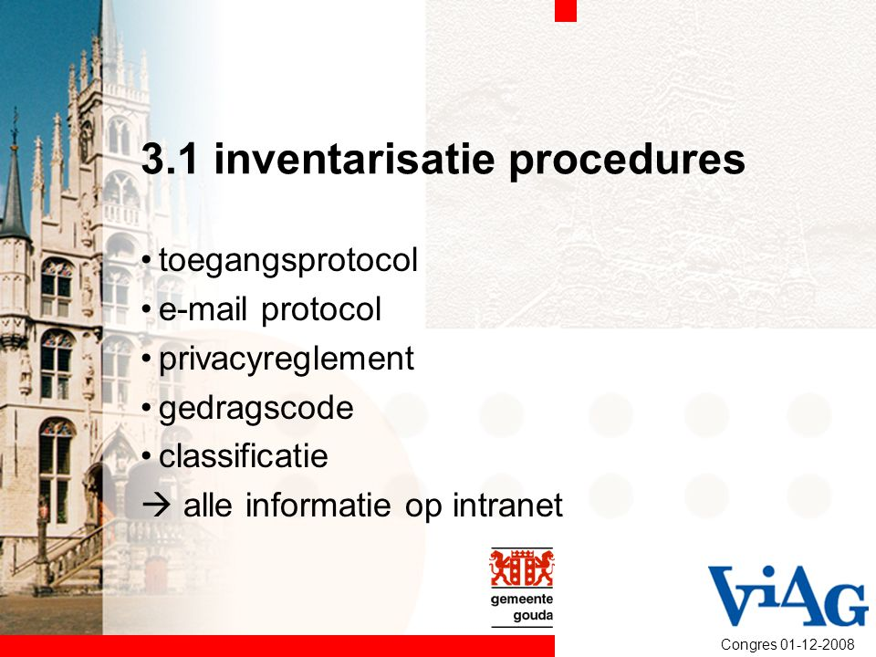 3.1 inventarisatie procedures