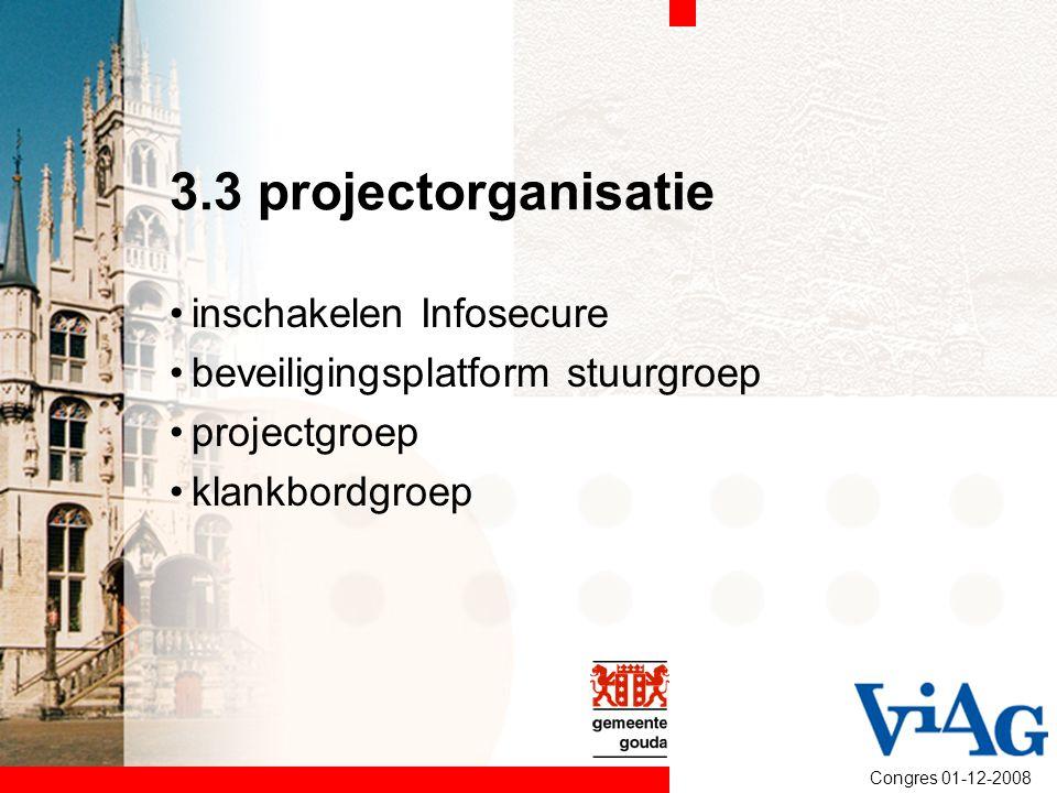 3.3 projectorganisatie inschakelen Infosecure