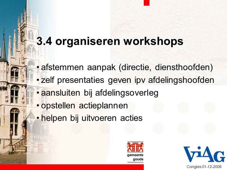 3.4 organiseren workshops