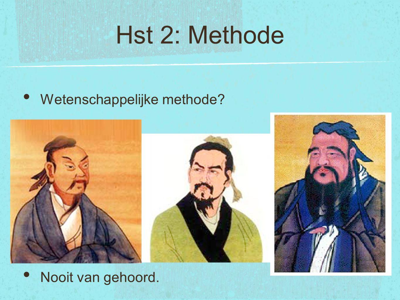 Hst 2: Methode Wetenschappelijke methode Nooit van gehoord.