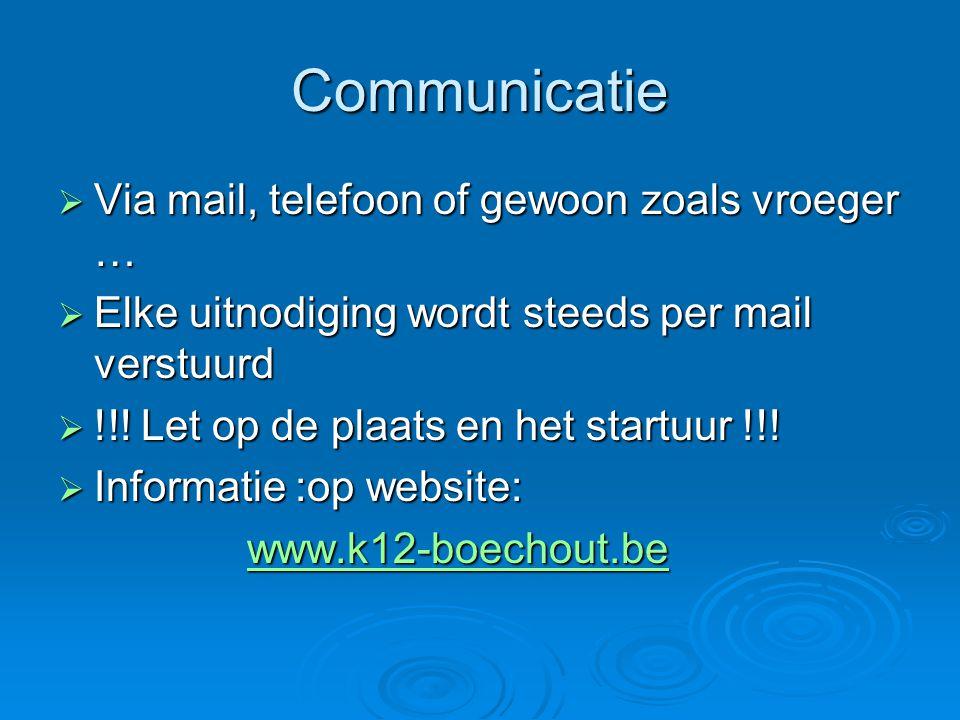 Communicatie Via mail, telefoon of gewoon zoals vroeger …