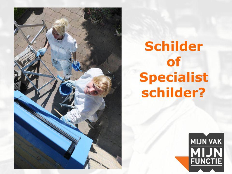 Schilder of Specialist schilder
