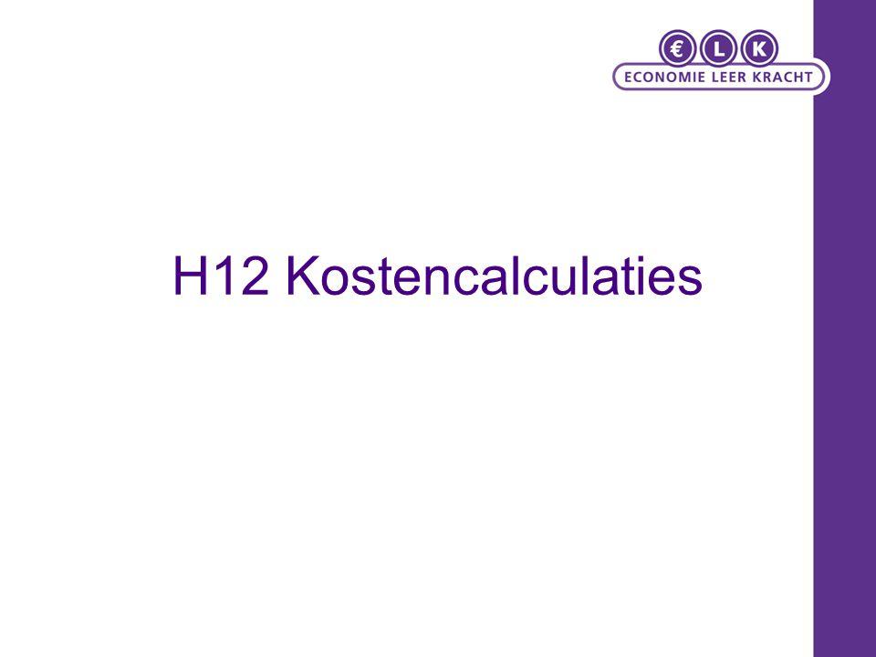 H12 Kostencalculaties