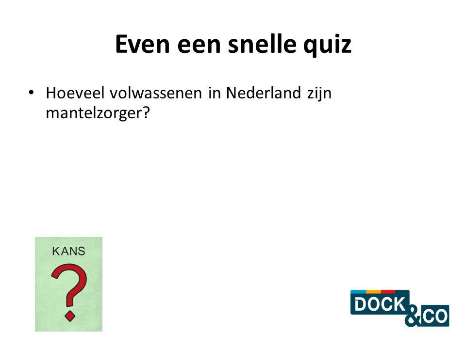 Even een snelle quiz Hoeveel volwassenen in Nederland zijn mantelzorger