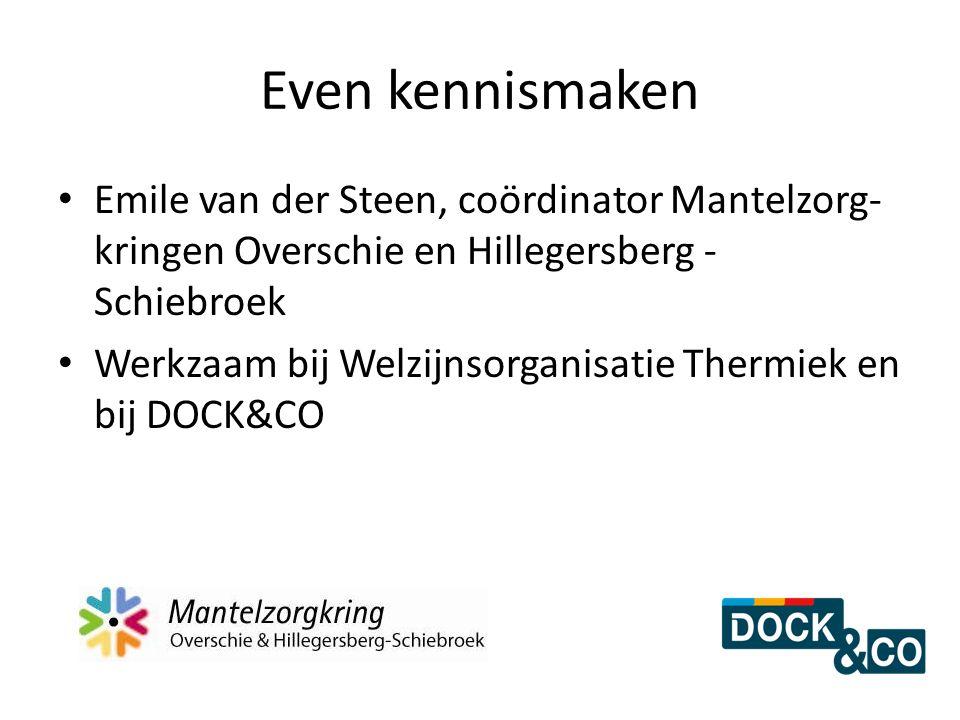 Even kennismaken Emile van der Steen, coördinator Mantelzorg-kringen Overschie en Hillegersberg - Schiebroek.
