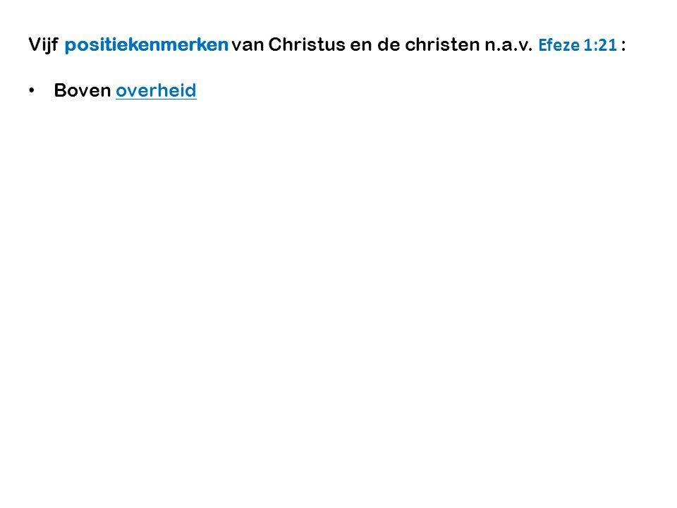 Vijf positiekenmerken van Christus en de christen n.a.v. Efeze 1:21 :