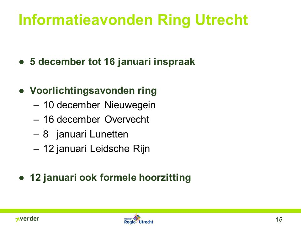 Verbreden; Volle ring
