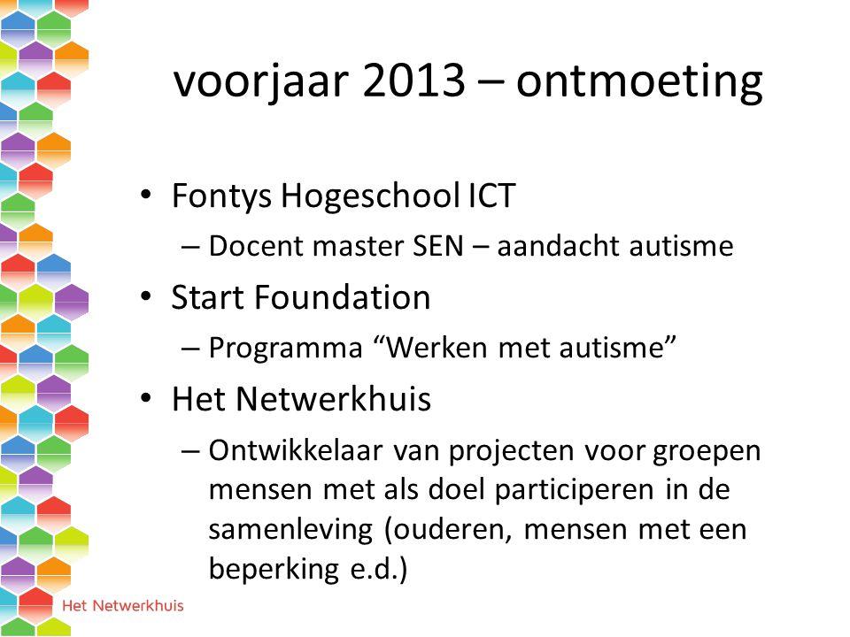 voorjaar 2013 – ontmoeting Fontys Hogeschool ICT Start Foundation