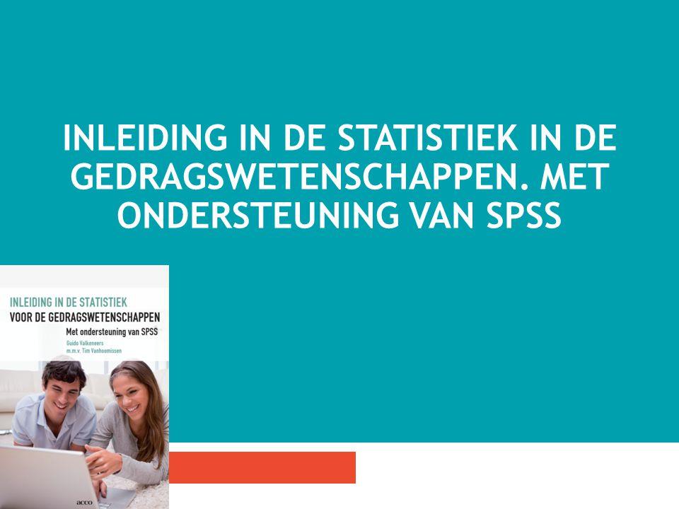 Inleiding in de statistiek in de gedragswetenschappen
