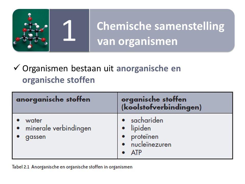 1 Chemische samenstelling van organismen