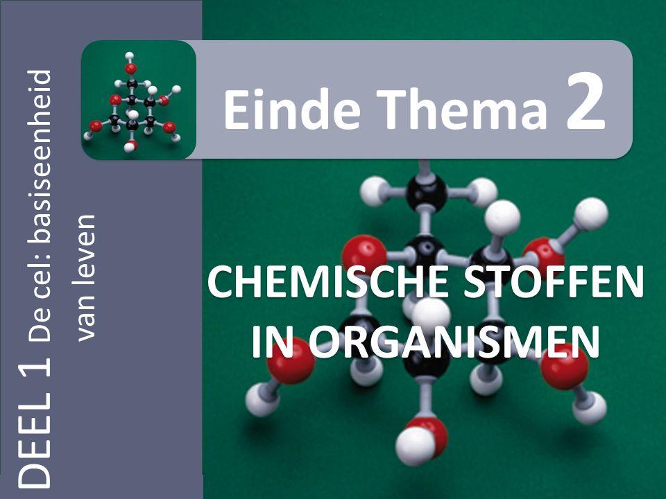 CHEMISCHE STOFFEN IN ORGANISMEN