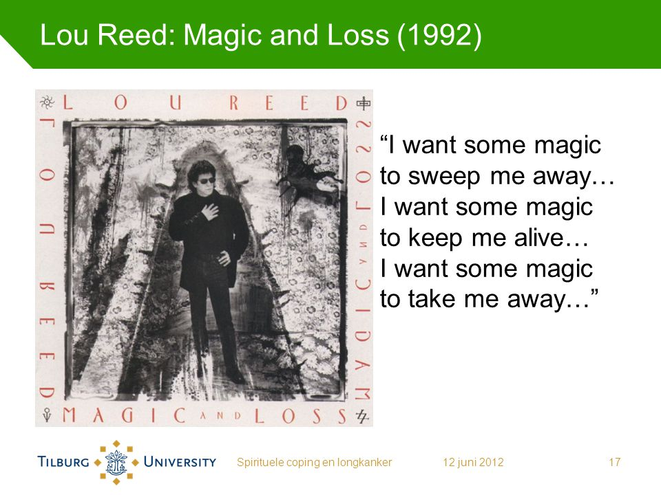 Lou Reed: Magic and Loss (1992)