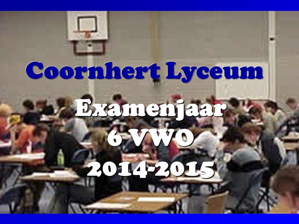 Coornhert Lyceum Examenjaar 6 VWO 2014-2015