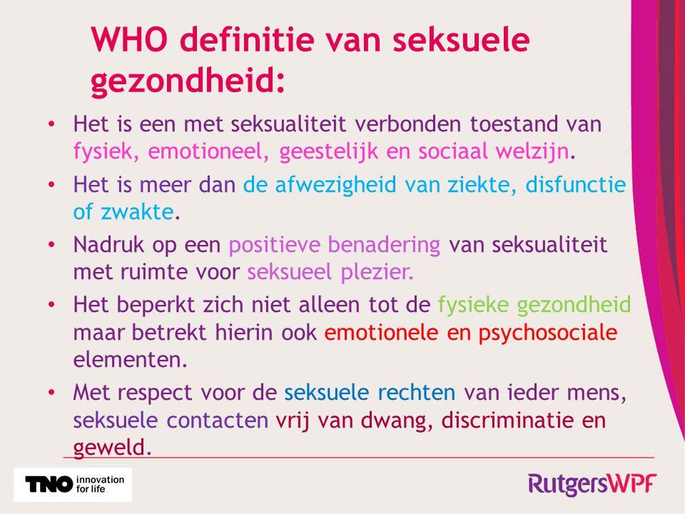 WHO definitie van seksuele gezondheid:
