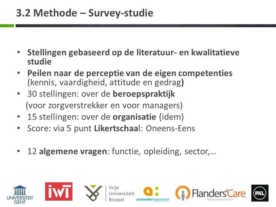 3.2 Methode – Survey-studie
