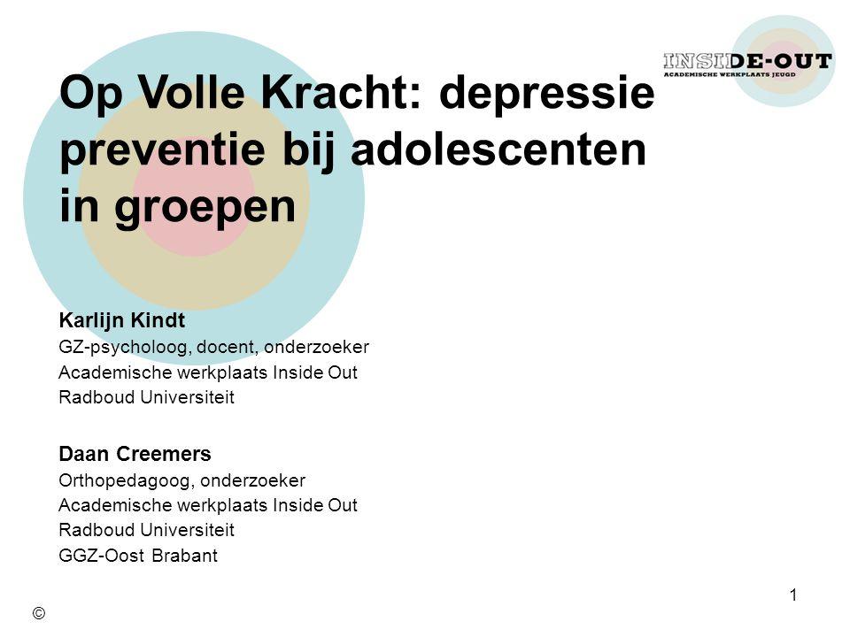 Op Volle Kracht: depressie preventie bij adolescenten in groepen