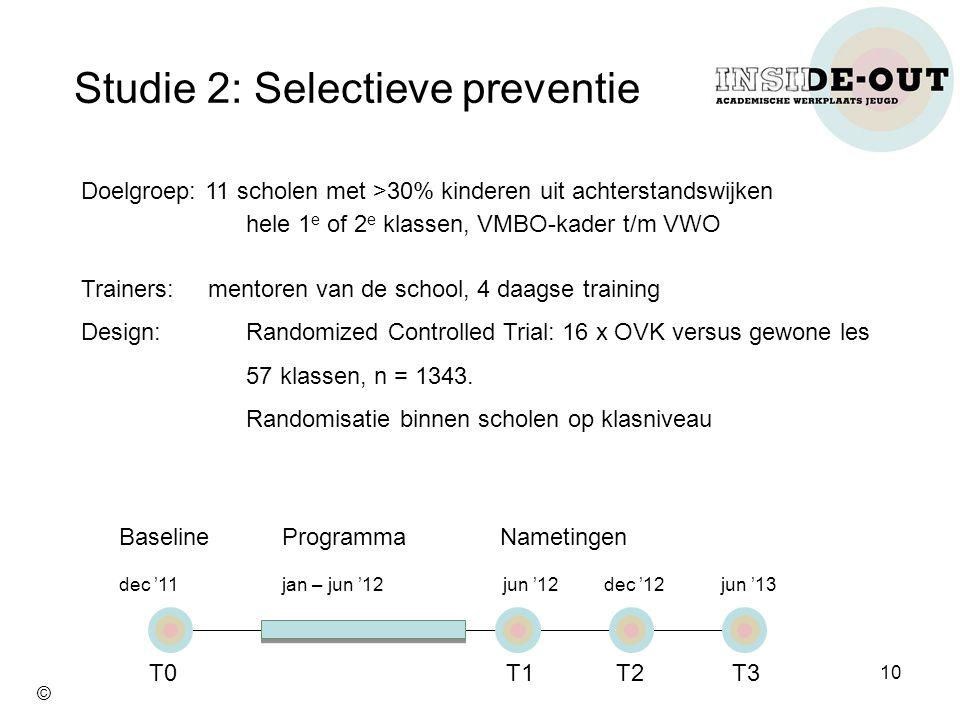 Studie 2: Selectieve preventie