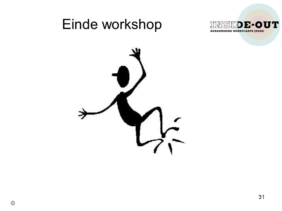 Einde workshop 31 ©