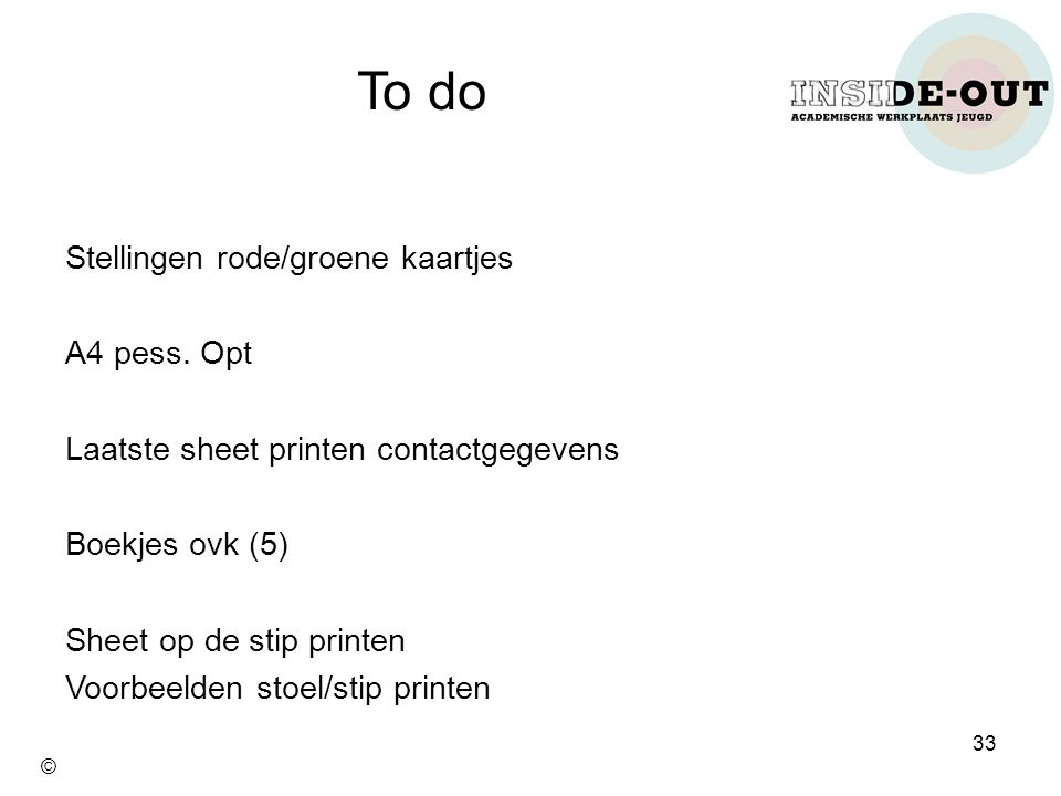 To do Stellingen rode/groene kaartjes A4 pess. Opt