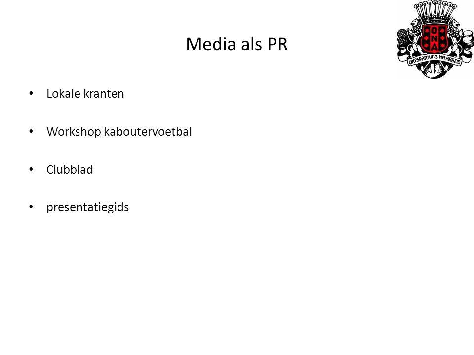 Media als PR Lokale kranten Workshop kaboutervoetbal Clubblad