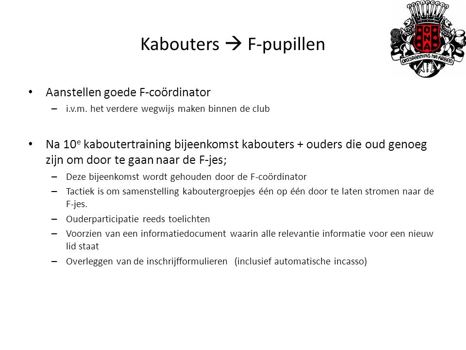 Kabouters  F-pupillen