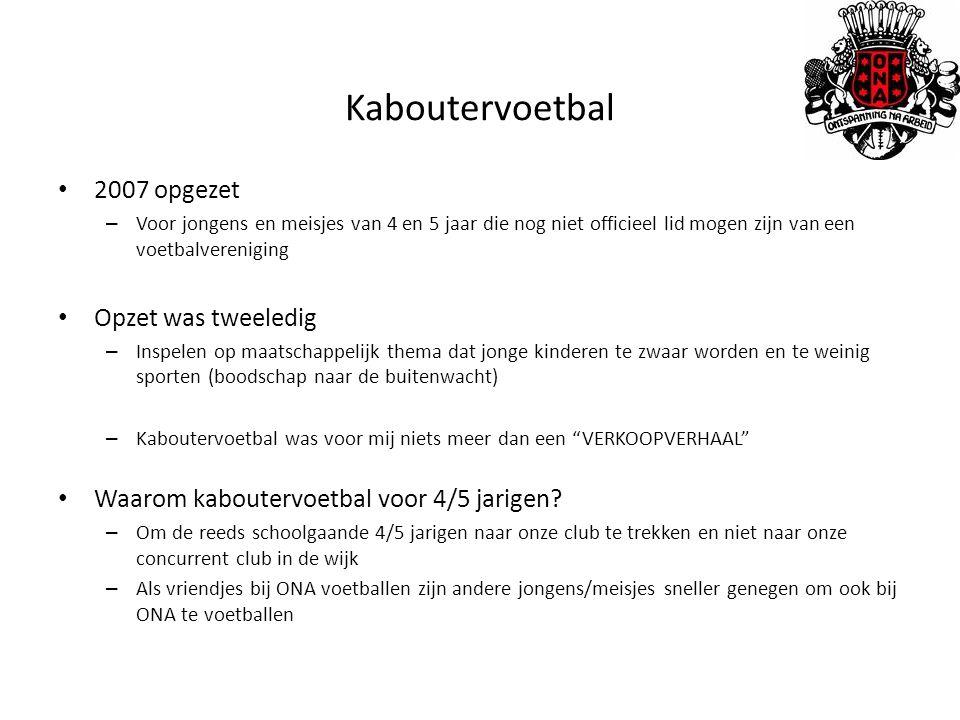 Kaboutervoetbal 2007 opgezet Opzet was tweeledig