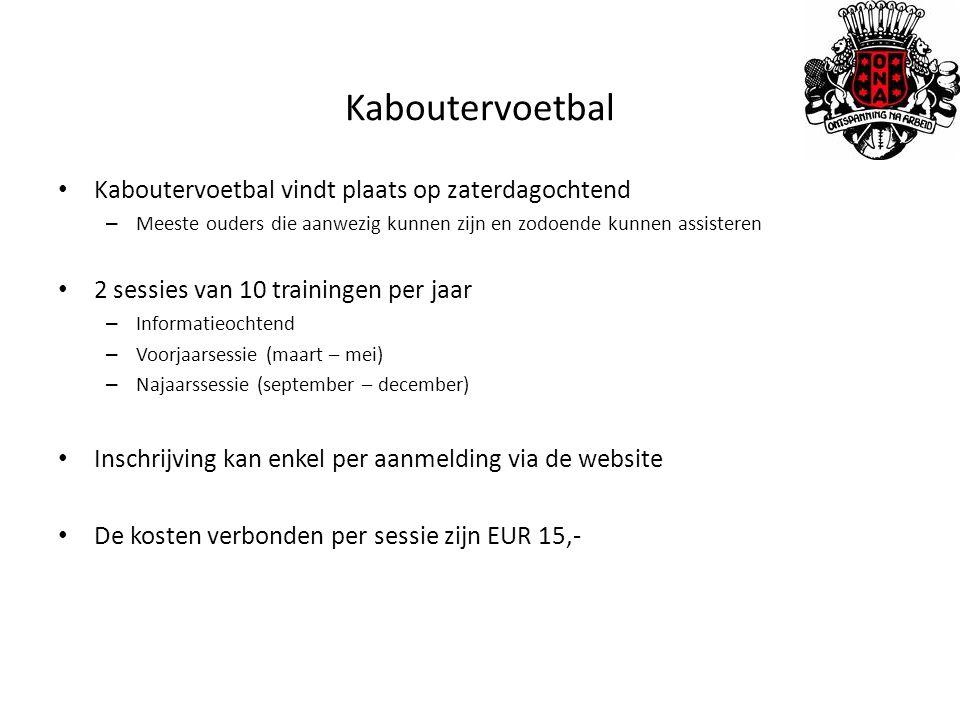 Kaboutervoetbal Kaboutervoetbal vindt plaats op zaterdagochtend